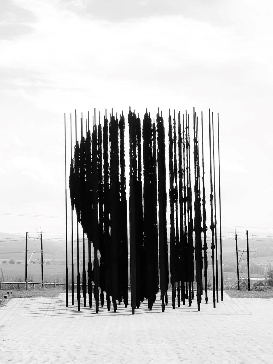 Sculpture monument at the Nelson Mandela Capture Site museum