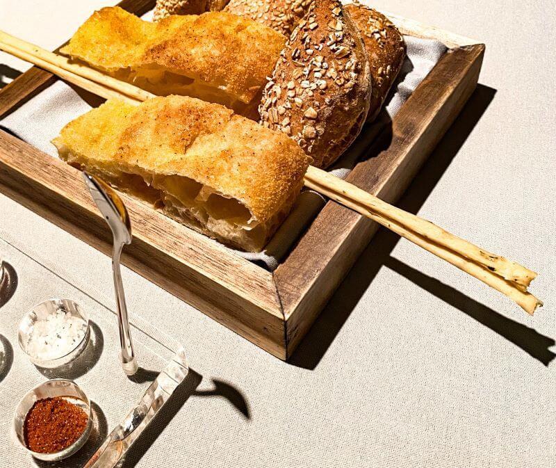 Bread basket at Gusto restaurant, Conrad Algarve