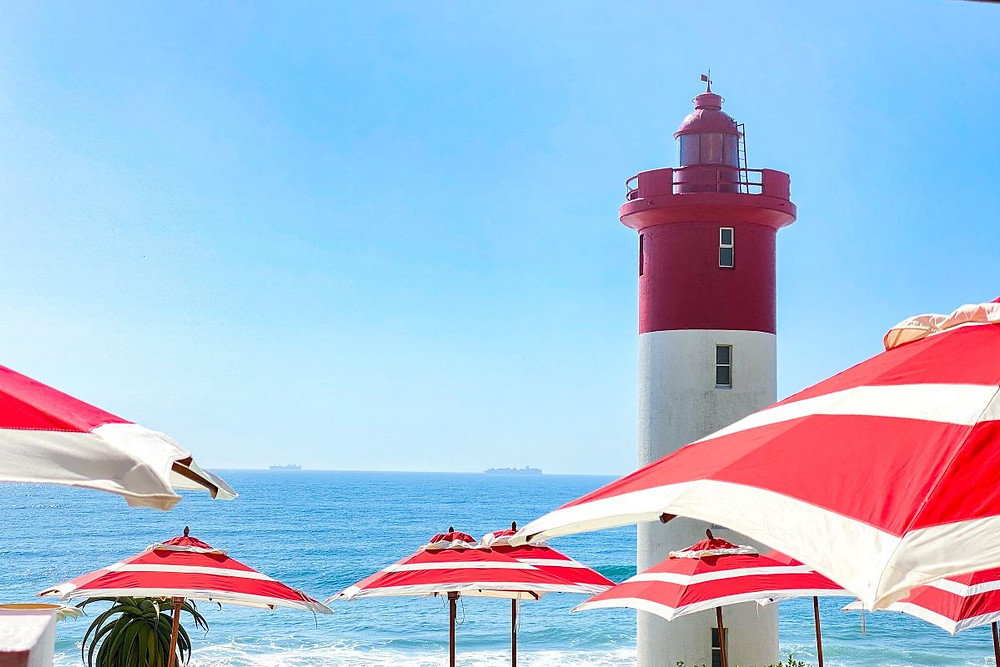 Lighthouse views from the Oyster Box hotel in Umhlanga