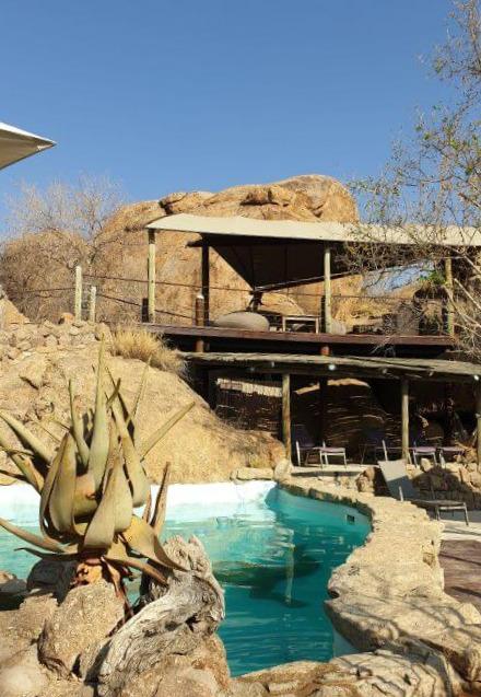 Swimming Pool at Erongo Wilderness Lodge in Namibia