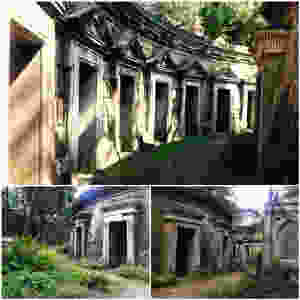 Crypts in the Circle of Lebanon in Highgate Cemetery London