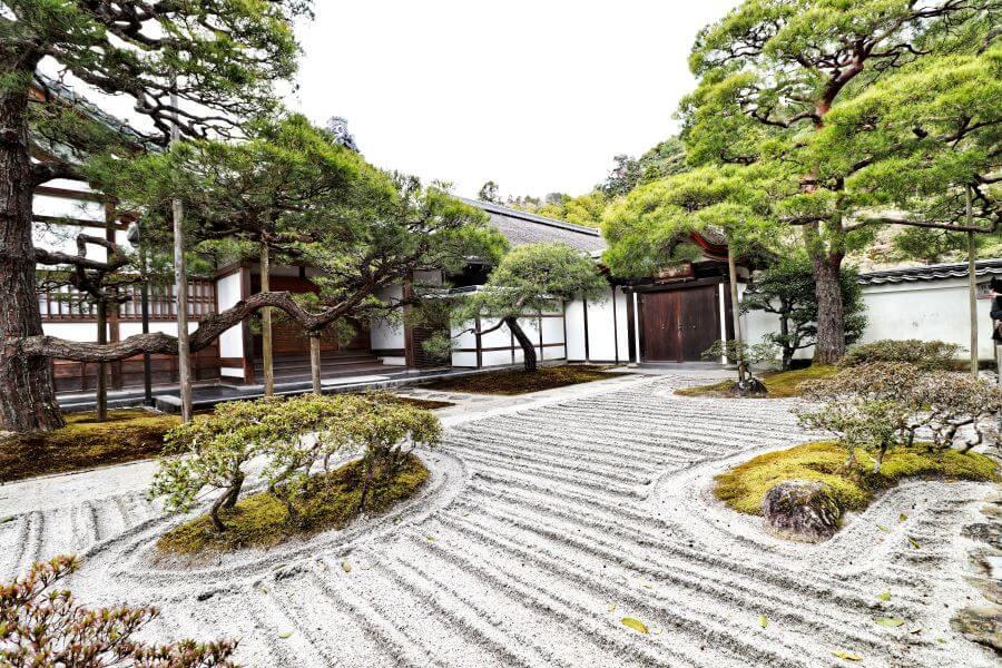 The Sea of Silver Sand at Ginkaku-ji temple in Kyoto