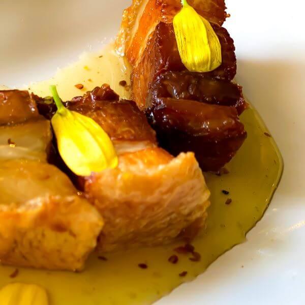Piggy Bits menu starter at The Pig restaurant in Brockenhurst