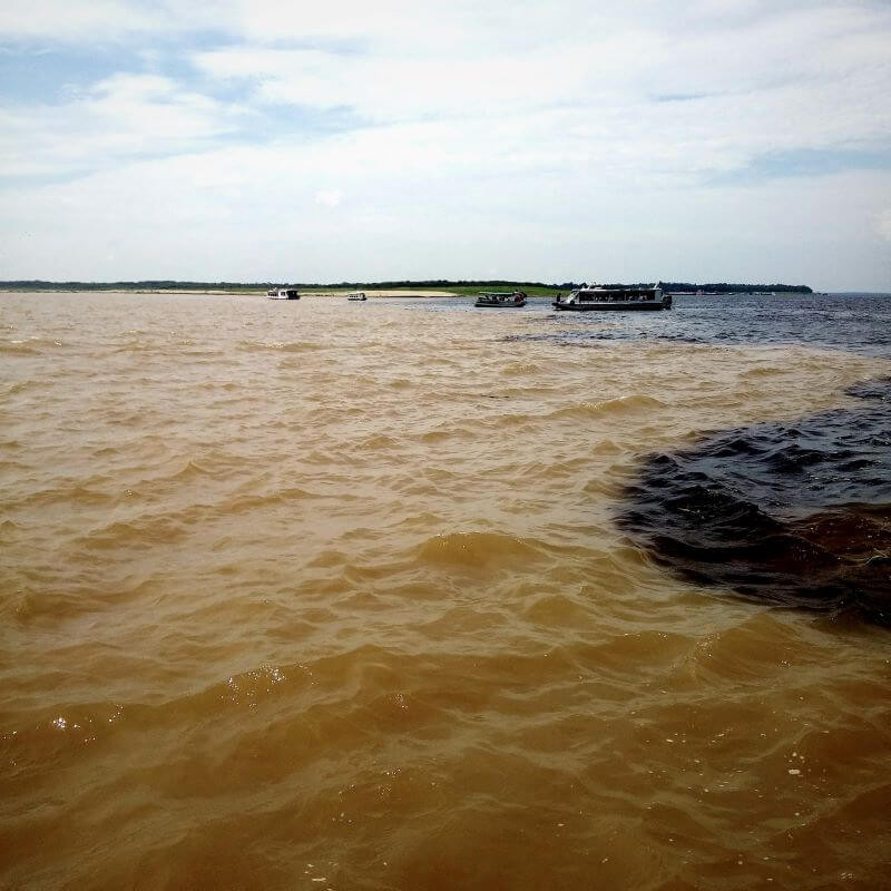 Meeting of the Waters on the Amazon river near Manaus