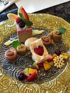 A beautiful dessert at Hakone Bakery & Table restaurant