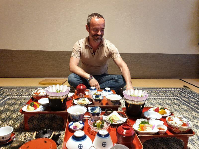 Dinner at Ekoin temple is shojin ryori vegetarian cuisine