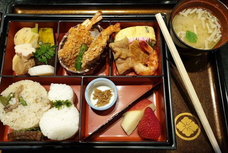 Traditional and beautiful Japanese Bento Box lunch