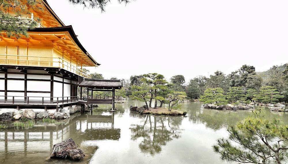 Kinkaku-ji temple, Kyoto's Golden Pavilion, in Japan