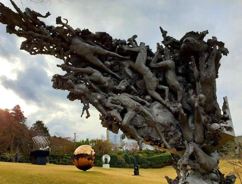 Sculptures at the Hakone Open Air Museum, during a day following the counter clockwise Loop