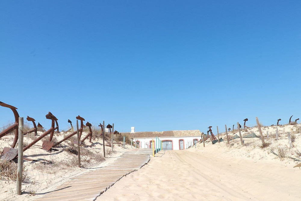 The anchor graveyard at the Algarve's Praia do Barril beach