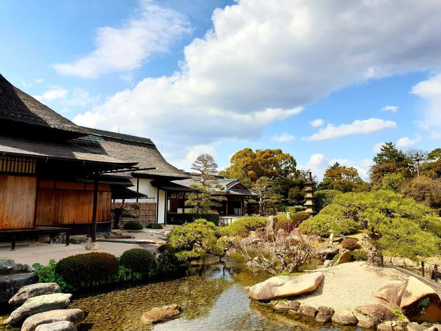 The Enyo-tei tea house in Koraku-en Garden, Okayama