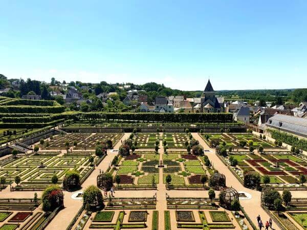 Chateau de Villandry Gardens in Loire Valley, France