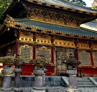 Beautiful Japanese shrine in Nikko near Tokyo