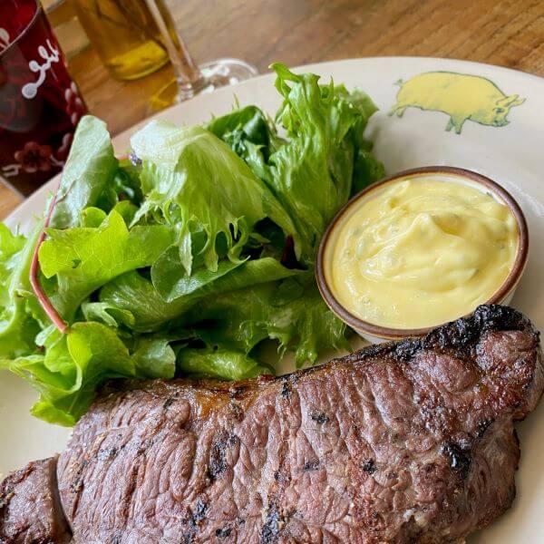 Steak during lunch at The Pig restaurant, Brockenhurst - a menu review