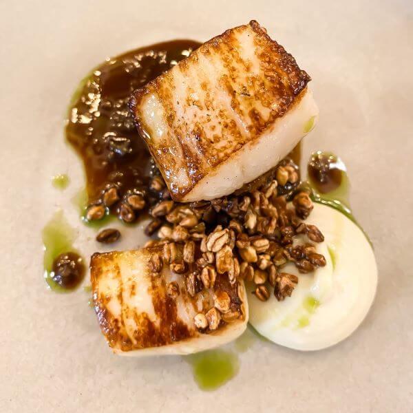 Monkfish starter review at Tristan restaurant, Horsham