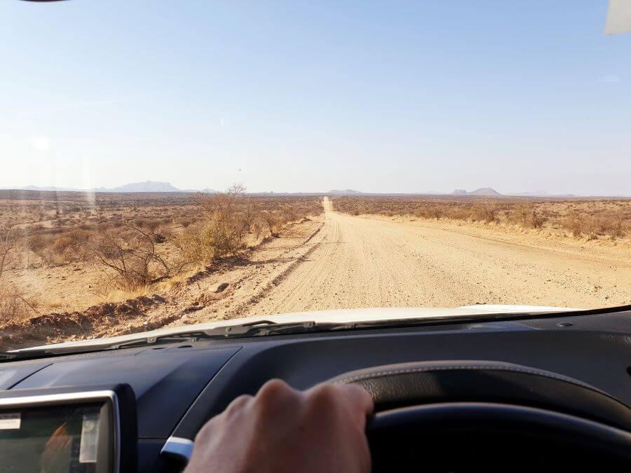 Driving around Namibia