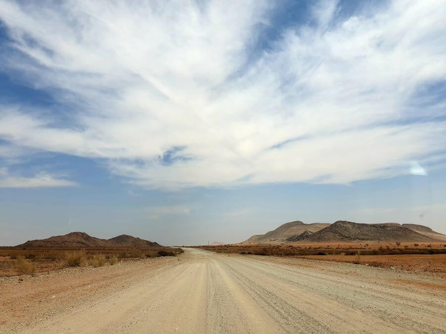Stunning desert scenery on a 1 week road trip around Namibia