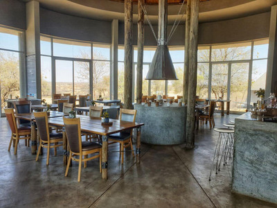 Breakfast and dinner restaurant at Naankuse Lodge in Namibia