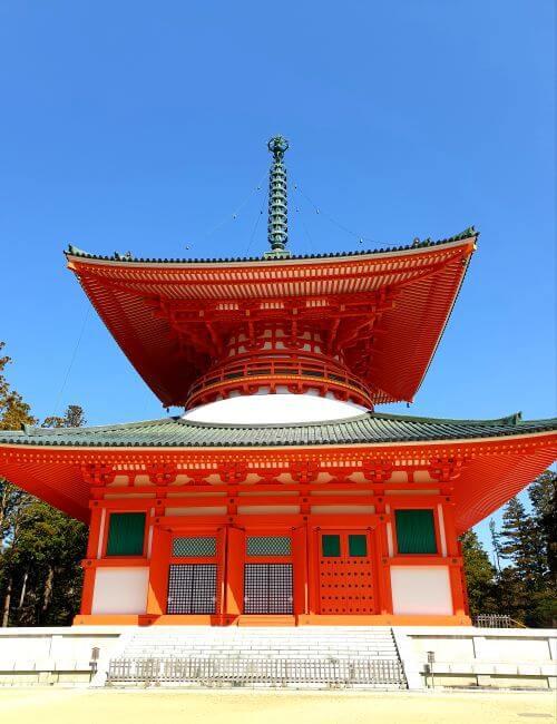 Great Red Pagoda in Danjo Garan in Koyasan