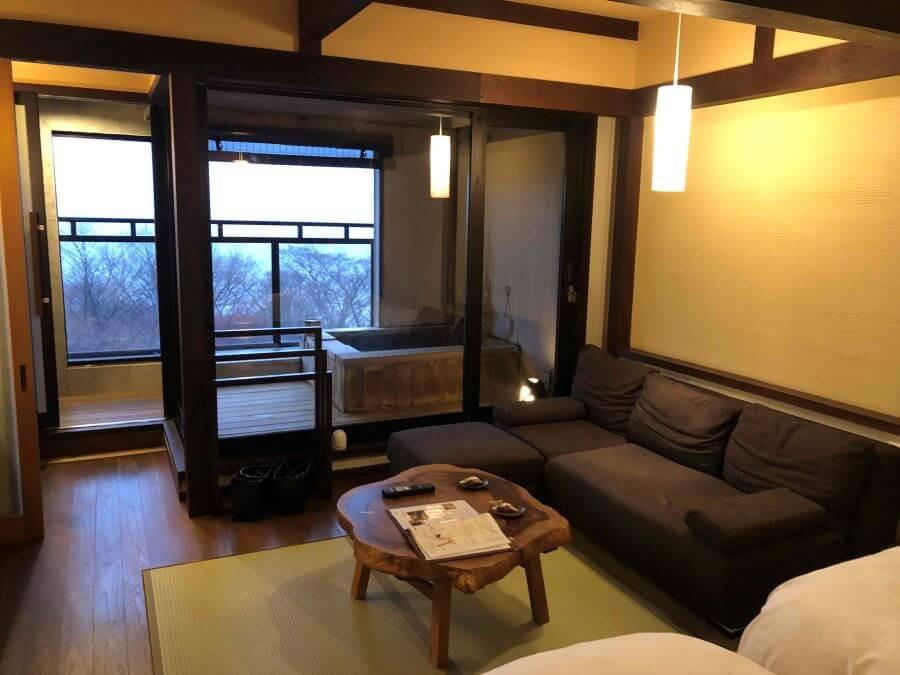 Bedroom at Gora Hanaougi ryokan in Hakone