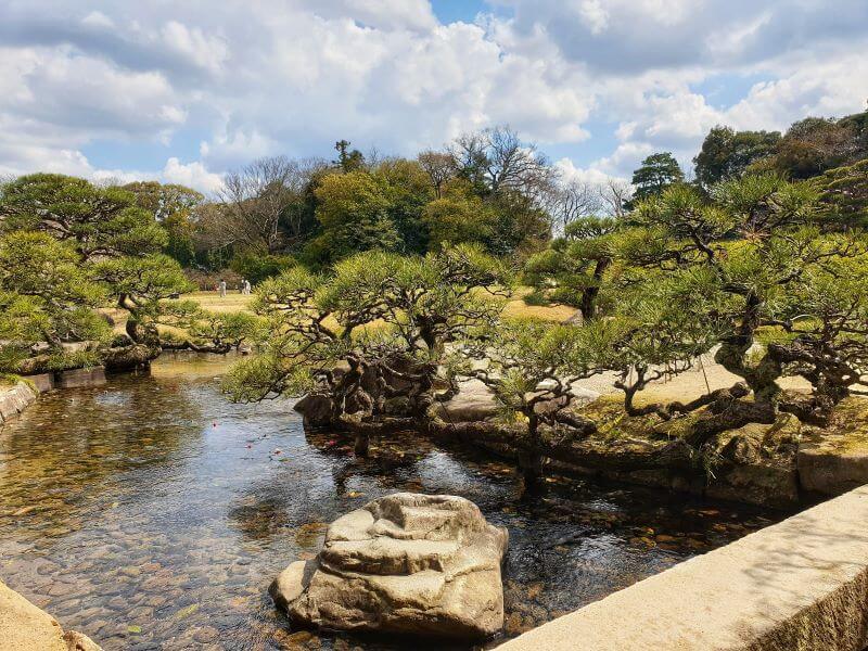 Koi pond in Okayama's Korakuen Garden, one of Japan's Three Great Gardens