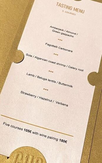 Gusto Heinz Beck Five Course Tasting Menu price