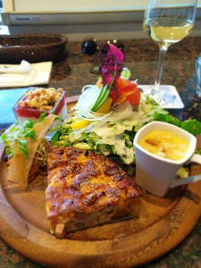 Quiche for lunch at Bakery & Table Hakone Loop