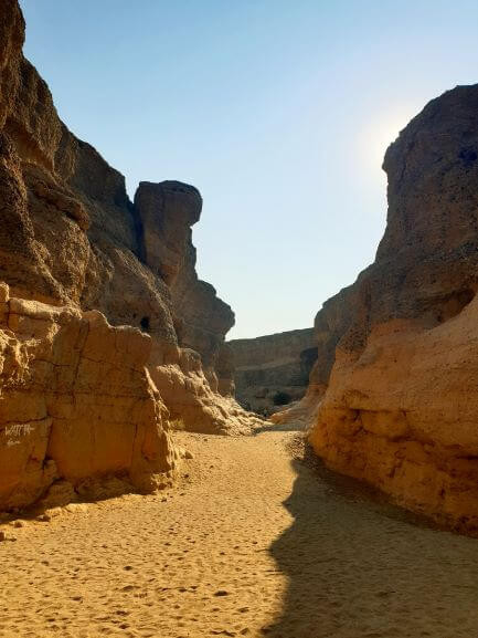 Sesriem Canyon, in the Namib-Naukluft National Park, near Sossusvlei