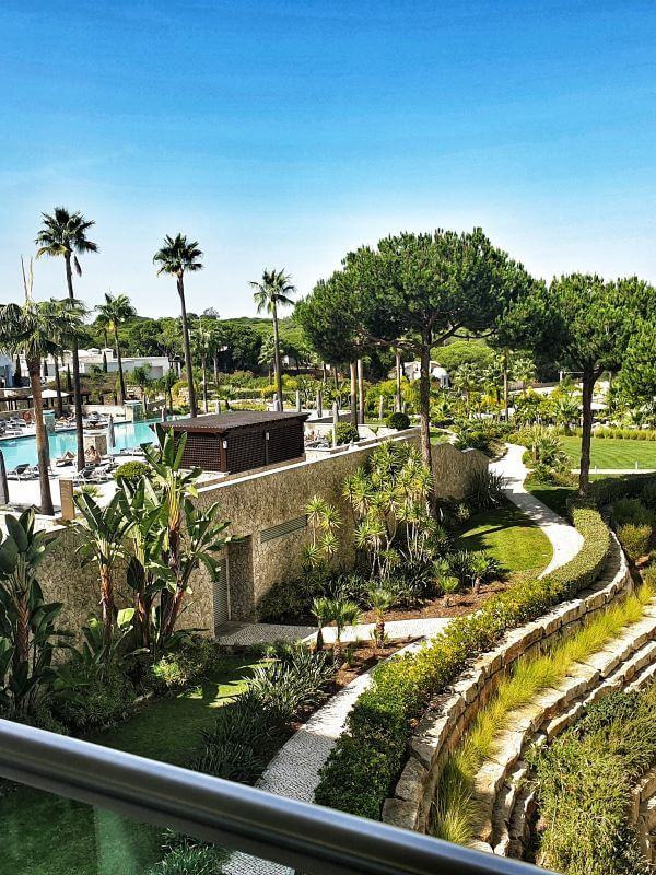 Views over the Conrad Algarve grounds and pool