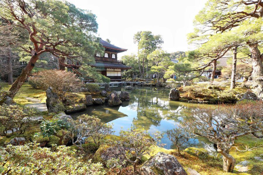 The Ginkaku-ji Silver Pavilion Temple in Japan's Kyoto.