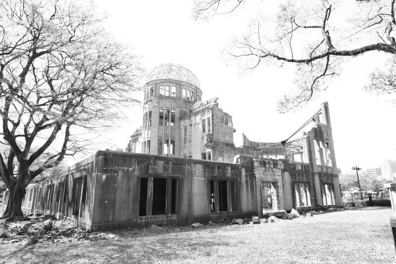 Moving image of the Atomic Bomb Dome in Naoshima, Japan