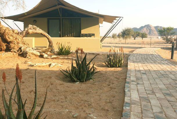 Chalets at Sossusvlei Lodge in Sesriem, Namibia
