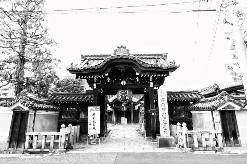 A beautiful temple entrance in Kyoto, Japan
