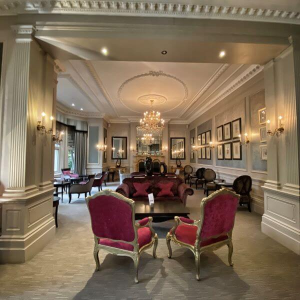 Lounge bar at luxury Alexander House hotel & Utopia spa in England