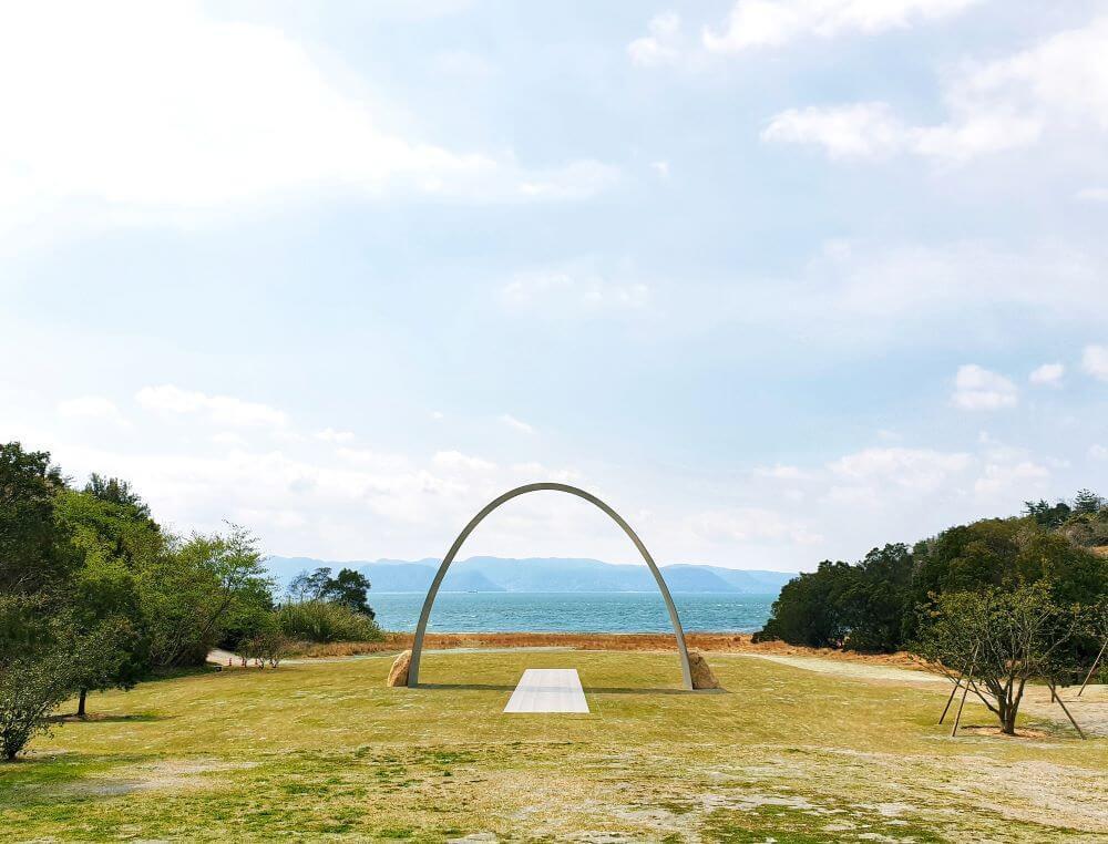 Lee Ufan art installation on Naoshima Island in Japan