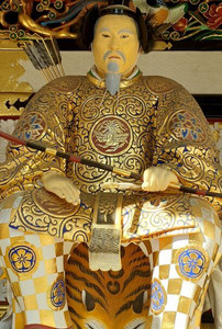 Nikko temple warrior guardian