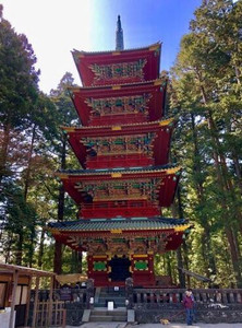 Five Storey Pagoda during a tour of the Nikko Temple Complex in Japan