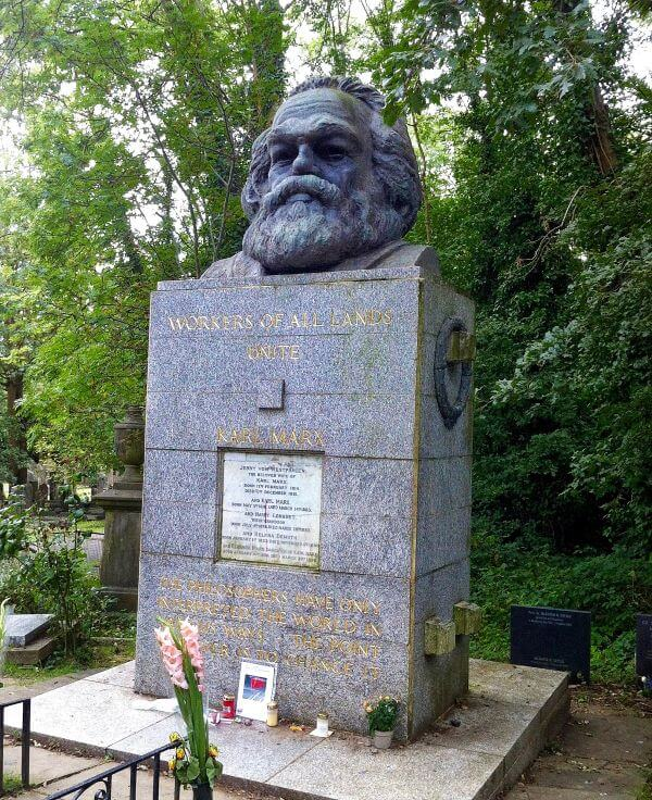 Grave site of Karl Marx in Highgate Cemetery