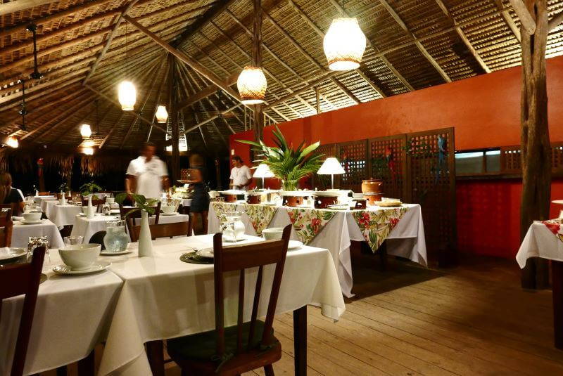 Restaurant review at Anavilhanas Amazon Jungle Lodge in Manaus Brazil