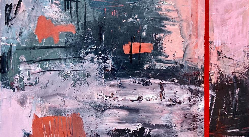 """""""Storm"""" - Mixed Media on canvas, 90 x 90"""