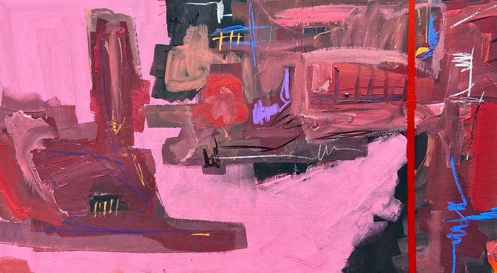"""""""Gone""""_-_mixed_media_on_canvas,_40_x"""