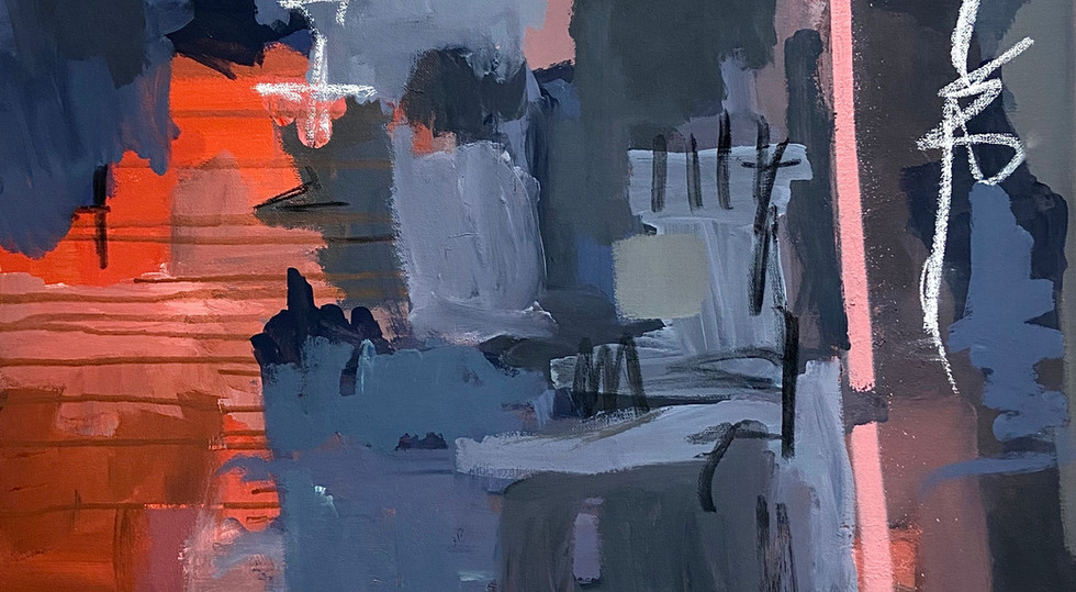 """The Night"" - Mixed Media on canvas, 60"