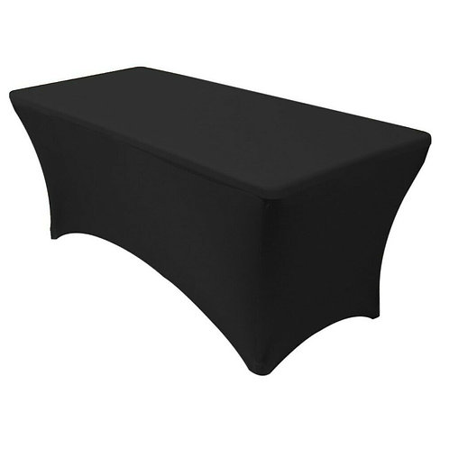 Rectangular Spandex Table Cover - Black
