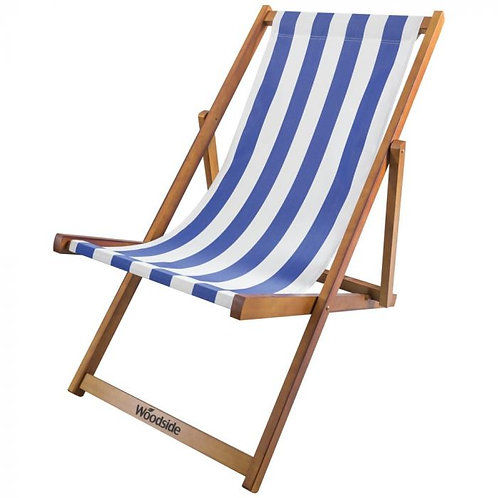 Deck Chair - Blue & White