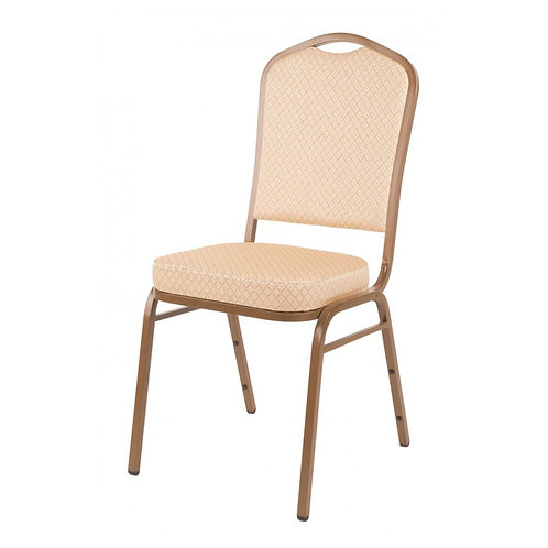 Diamond Steel Banqueting Chair - Cream