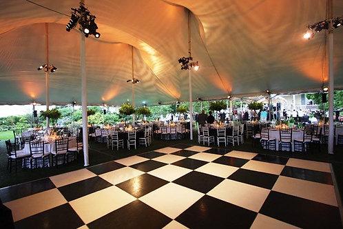 Black & White Chequered Dance Floor