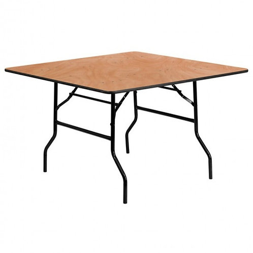 4 Foot Square Wooden Trestle Table