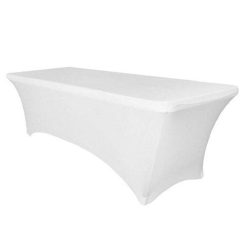 Rectangular Spandex Table Cover - White
