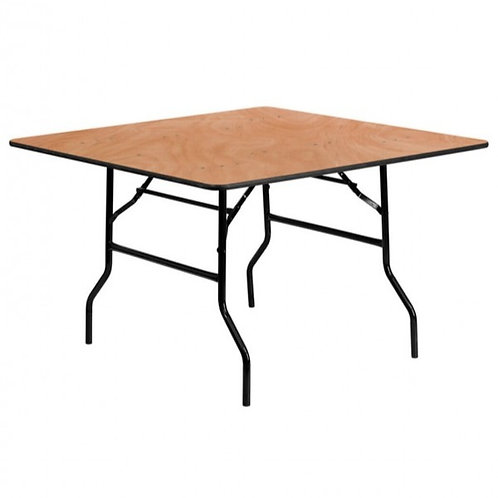 3 Foot Square Wooden Trestle Table