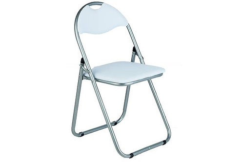 Folding Padded Chair - White